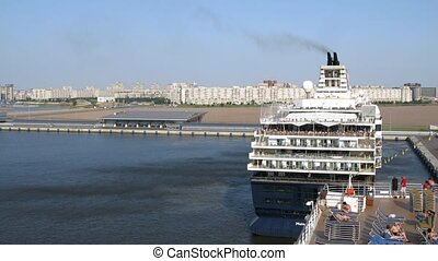 Mein Schiff 2 cruise liner leaves harbour - SAINT...