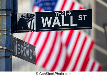 Wall Street Signs in Manhattan, New York City