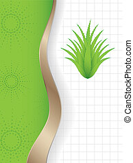 abstract background with a special green aloe vera plant