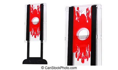 toy guillotine for focus turns on white background