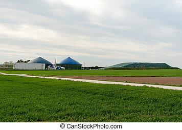 Fermenter, de, Un, Biogas, planta