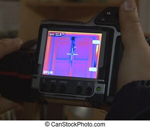 thermovisual photograph - thermal imaging cameras....