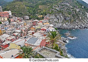 Landscape of the Cinque Terre, Liguria, Italy