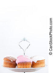 Small muffins with icing sugar