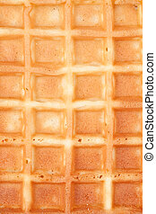 Close up of a waffle