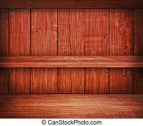 Wooden Shelf Background