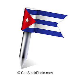 Vector Cuba flag isolated on white. Eps10