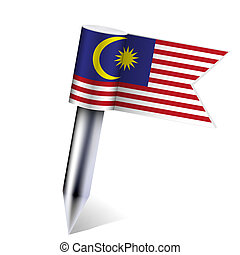 Vector Malaysia flag isolated on white. Eps10