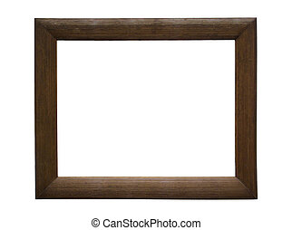 Antique Picture Frame - Old Antique Wooden Picture Frame A...