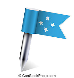 Vector Micronesia flag isolated on white. Eps10