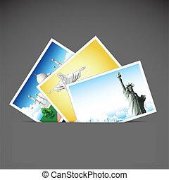 Travel Photo - illustration of photograph of different...