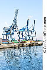 Lifting cranes in port of Rejeka, Croatia