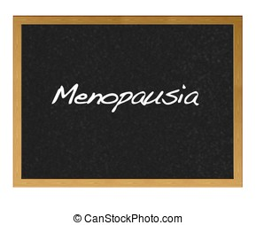 Menopause. - Isolated blackboard with Menopause.