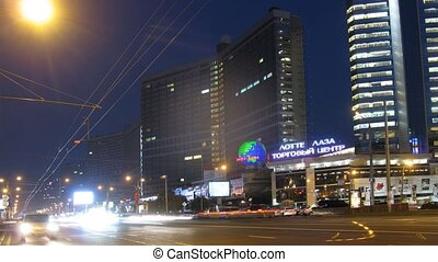 Cars go on prospectus, New Arbat - MOSCOW - AUG 29: Cars go...