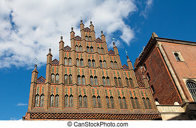 Altes Rathaus (old town hall) in the center of Hannover, Germany.