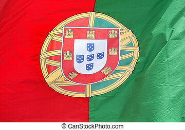Portuguese flag in the wind.
