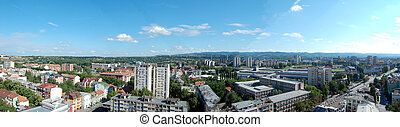 Novi Sad - It is the city Novi Sad from the 14 level