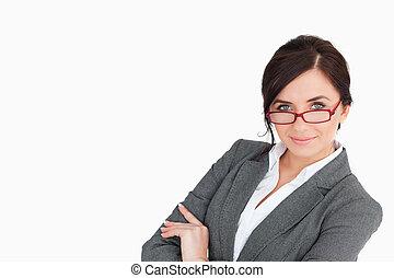 Beautiful secretary posing