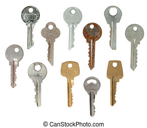 set of keys isolated