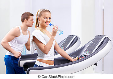 In the fitness club