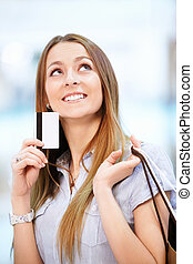 Girl with a credit card