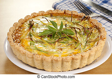 Minced Beef and Leek Quiche