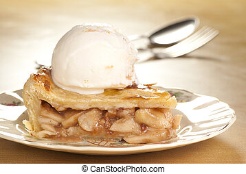 Apple Pie Ala Mode with Toffee Vanilla Ice Cream