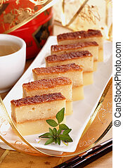 Baked Tapioca Pudding also known as Bingka Ubi Kayu