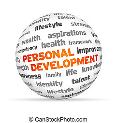 Personal Development - 3d Personal Development Word Sphere...