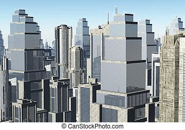 Metropolis 3D render 01