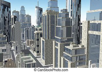 Metropolis 3D render 02