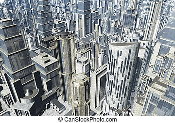 Metropolis 3D render 03