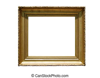 Antique Gilded Picture Frame - Old Antique Wooden Picture...