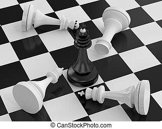 Winning chess king