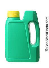 Plastic Oil Bottle on White Background