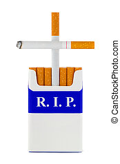 Grave made of cigarettes