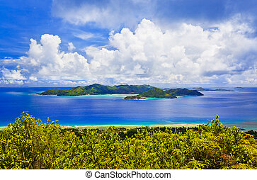 Island Praslin at Seychelles - nature background