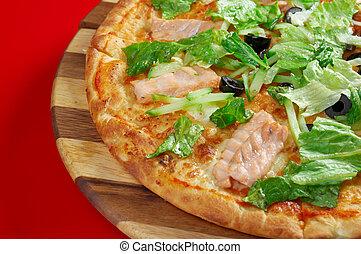 Pizza Atlantic salmon