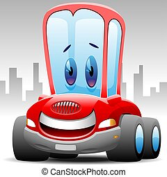 happy toon car - for exam