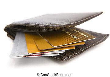 Credit cards inside wallet