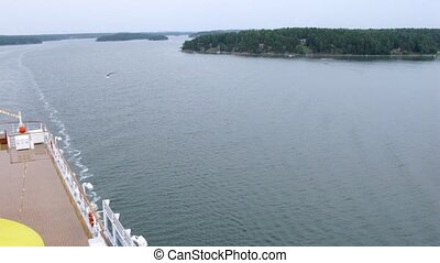 Little green islands in Stockholm bay, time lapse - Little...