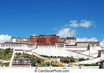 Landmark of the Potala Palace - Landmark of the famous...