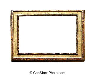 Weathered Golden Picture Frame