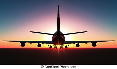 airplane - silhouette of airplane