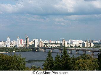 Kyiv - Panorama of Ukrainian capital - Kyiv - Dnipro river,...