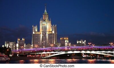 High-rise building of the Stalin era is located on...