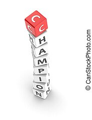 champion - Rendered artwork with white background