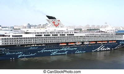 Mein Schiff 2 cruise liner takes off - SAINT PETERSBURG,...