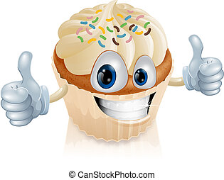 Fairy cake character illustration - Illustration of a fun...