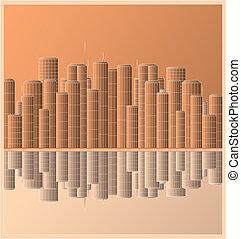 urban landscape skyscraper with ref